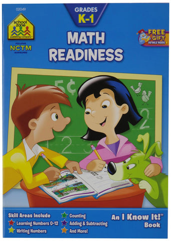SCHOOL ZONE - Math Readiness K-1 Workbook