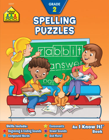 SCHOOL ZONE - Spelling Puzzles 2 Workbook