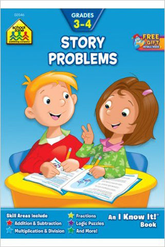 SCHOOL ZONE - Story Problems 3-4 Workbook