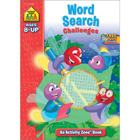 SCHOOL ZONE - Word Search Challenges Activity Zone Workbook