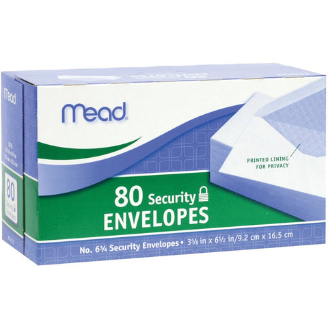 MEAD - #6-3/4 Security Envelopes