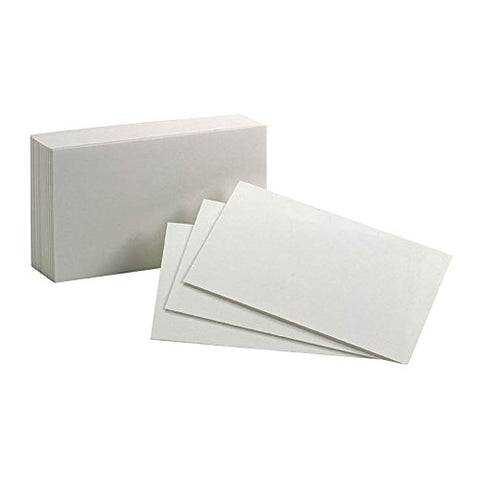 OXFORD - Index Cards 3 x 5 Inch Blank