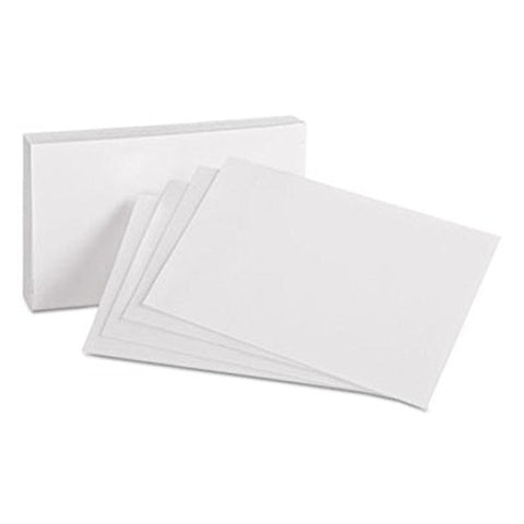 OXFORD - Index Cards 4 x 6 Inch Blank White