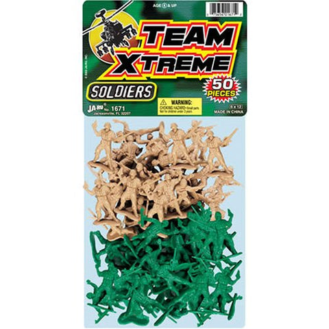 JA-RU - Team Xtreme Soldiers Plastic Army Men Set