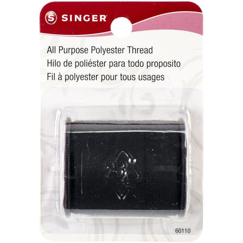 SINGER - All Purpose Polyester Thread Black