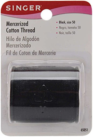SINGER - Mercerized Cotton Thread Black Size 50