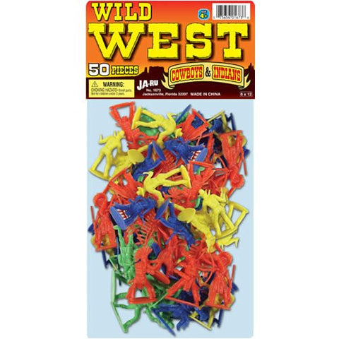 JA-RU - Wild West Bag of Cowboys and Indians Plastic Toys
