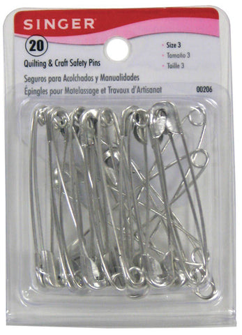 SINGER - Quilting & Craft Safety Pins Size 3