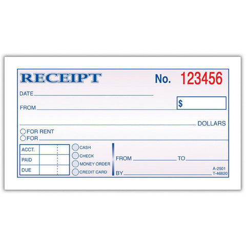 "ADAMS - 2-Part Carbonless Money and Rent Receipt Book 2-3/4"" x 5-3/8"""