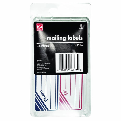 "ADVANTUS - Self Adhesive To and From Mailing Labels 1-1/4"" x 4-1/2"""