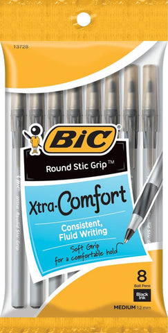 BIC - Round Stic Ball Pens Medium Point Black