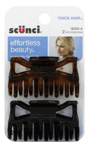 SCUNCI - Effortless Beauty Claw Clips Thick Hair