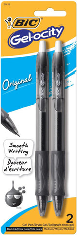 BIC - Velocity Gel Retractable Pen Medium Point Black