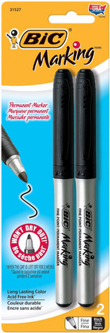 BIC - Mark-It Permanent Marker Fine Point Black
