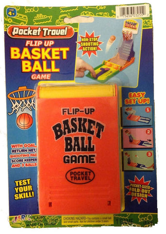JA-RU - Pocket Travel Flip Up Basketball Game