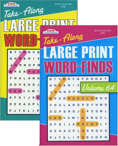 KAPPA - Take Along Large Print Word Finds Puzzle Book
