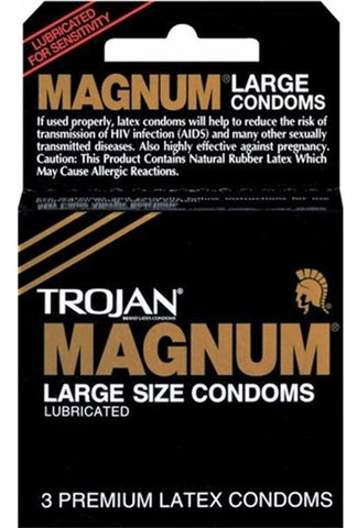 TROJAN - Magnum Lubricated Large Size