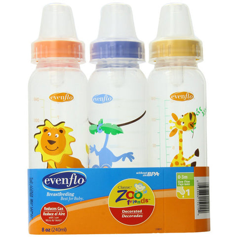 EVENFLO FEEDING - Zoo Friends Standard Nipple Bottle