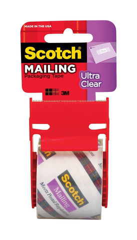 SCOTCH - Ultra Clear Mailing Packaging Tape