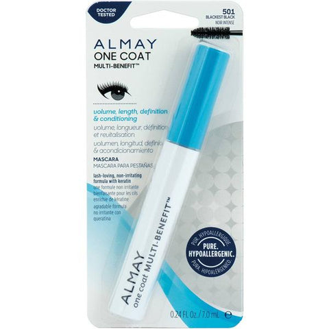ALMAY - One Coat Multi-Benefit Waterproof Mascara Blackest Black