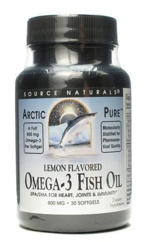 Source Naturals ArcticPure Lemon Flavored Omega 3 Fish Oil