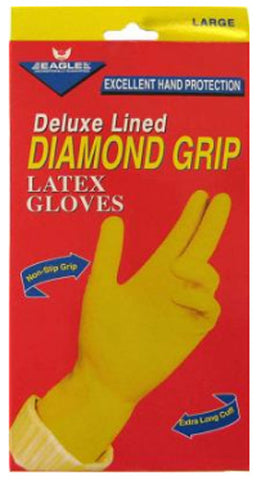 EAGLE - Diamond Grip Long Cuff Gloves Large