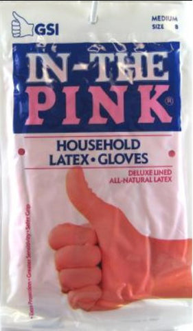 GLOVE - In-The Pink Deluxe Latex Gloves Medium