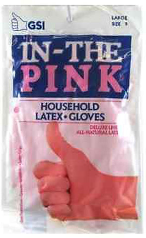 GLOVE - In-The Pink Deluxe Latex Gloves Large