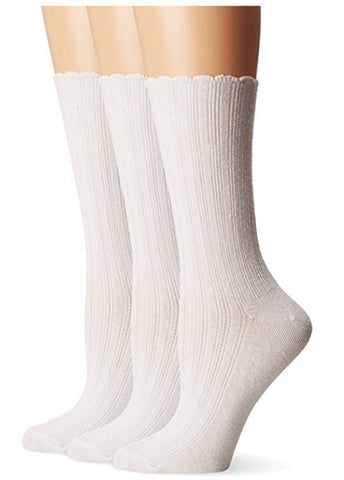 NO NONSENSE - Women's Scallop Point Elle Sock White