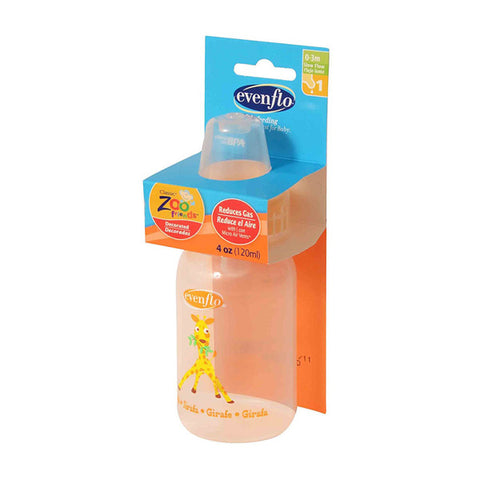 EVENFLO - Zoo Friends Bottle Pegable with Standard Nipple