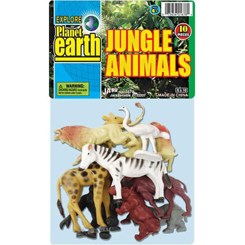"JA-RU - Jungle Zoo Animals Jumbo Bag 6"" x 10"""