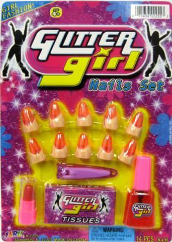 JA-RU - Glitter Girl Nails Set