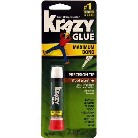 KRAZY GLUE - Maximum Bond Wood & Leather Super Glue