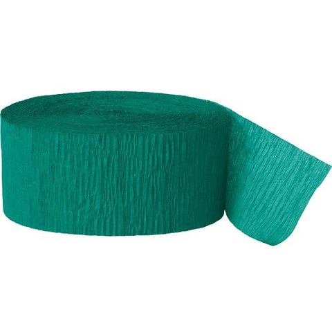 UNIQUE - Emerald Green Crepe Paper Streamers