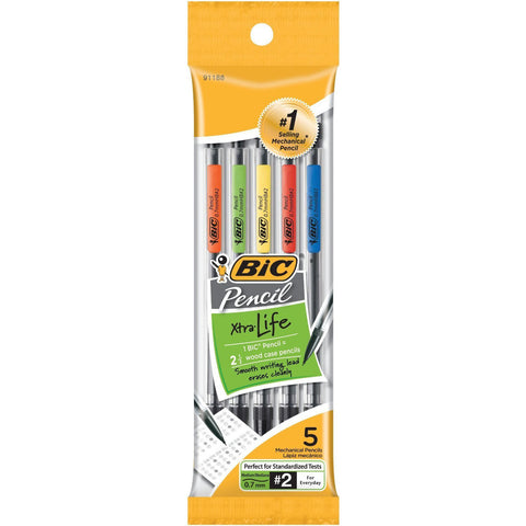 BIC - Mechanical Pencils  0.7 mm Black Barrel