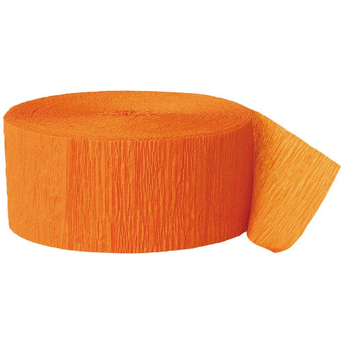 UNIQUE - Orange Crepe Paper Streamers