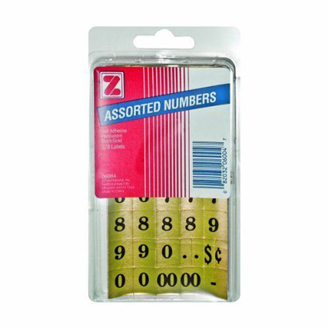 ADVANTUS - Self Adhesive Assorted Numbers 1/2 x 5/8 Inches Black/Gold