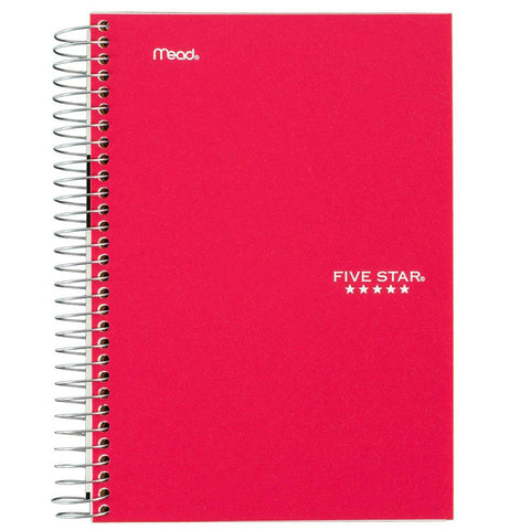 "MEAD - Five Star Personal Wirebound College Ruled Notebook 5"" x 7"""