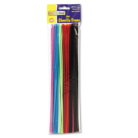 CREATIVITY - Chenille Stems 4mm x 12in. Assorted Colors