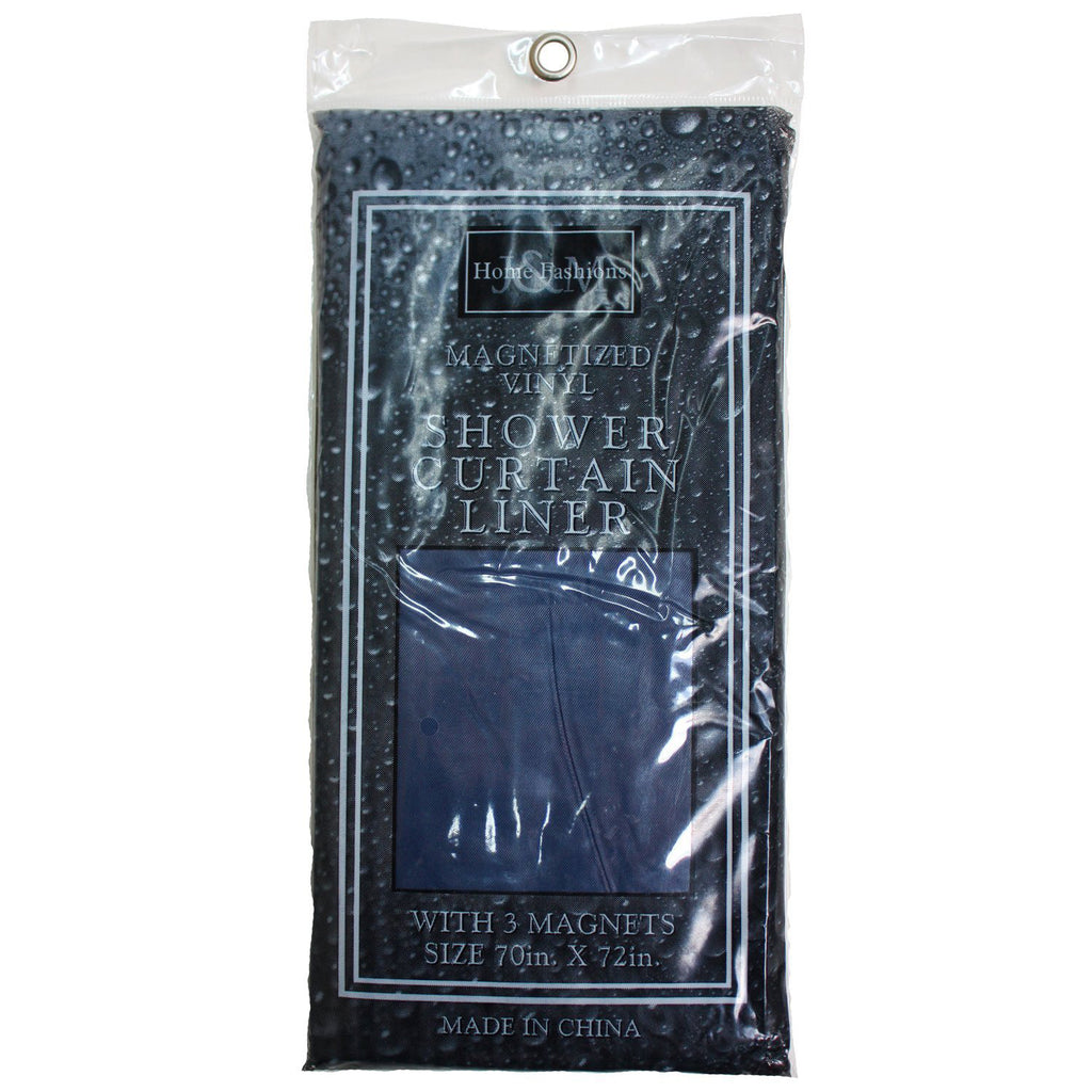 J & M - Navy Shower Curtain Liners
