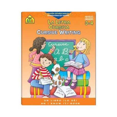 SCHOOL ZONE - Workbook Cursive Write Bilingual
