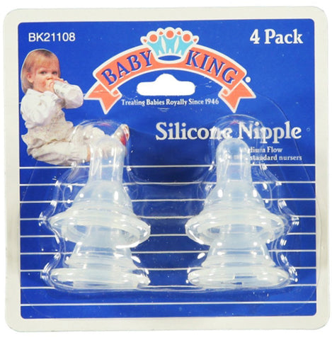 BABY KING - Silicone Nipples, One Color, One Size -