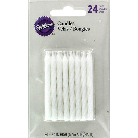 WILTON - Birthday Candles, 2.5-Inch, White
