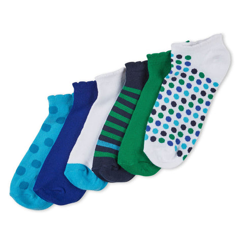 NO NONSENSE - Women's Color Expressions Patterned No-Show Socks