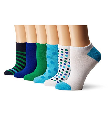 NO NONSENSE - Women's No Show Scalloped Edge Liner Sock