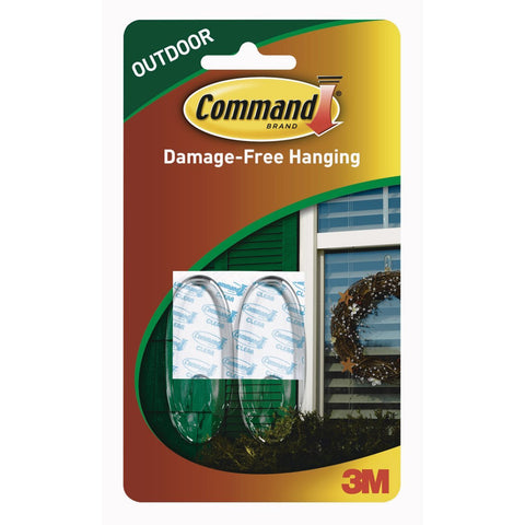 COMMAND - Outdoor Medium Clear Window Hooks