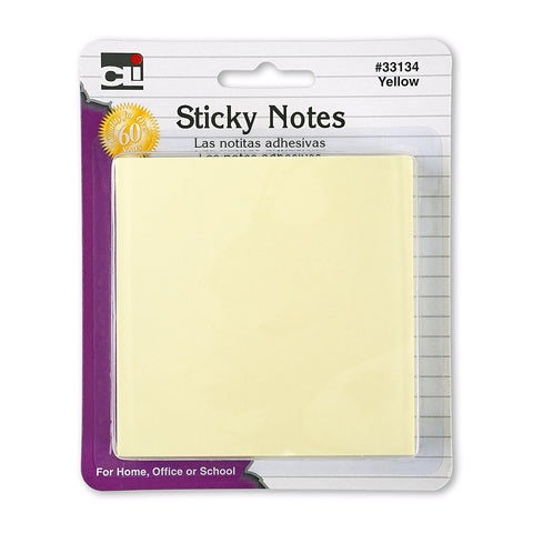 CLI - Sticky Notes, 3 x 3 inches Yellow