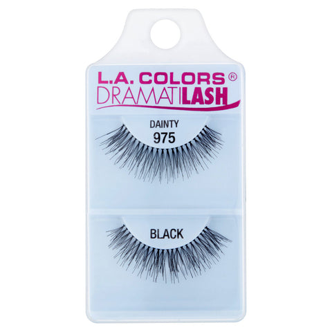 L.A. COLORS - Dramatilash Dainty False Eyelashes Black, Dainty 975