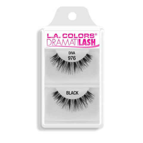 L.A. COLORS - Dramatilash Dainty False Eyelashes Black, Diva 976