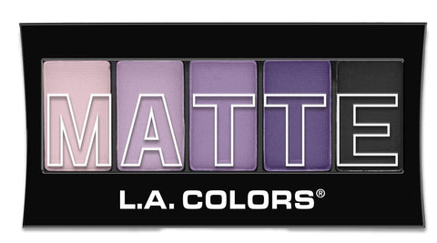 L.A. COLORS - 5 Color Matte Eyeshadow, Purple Cashmere